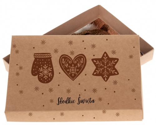 Pudełko świąteczne Kraft Pierniki